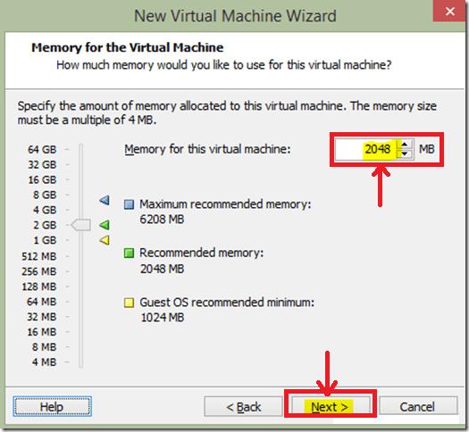 Virtual Machine-Allocate Memory