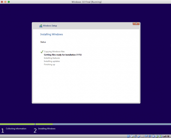 Windows 10 - Virtualbox- Begin Installation Process