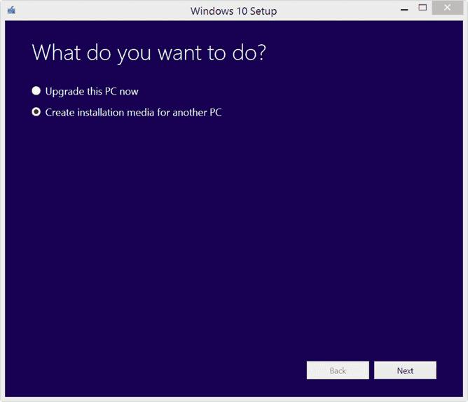 Windows 10 setup -What do you want to do