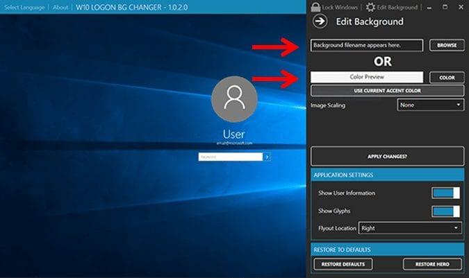 Change background image - windows 10