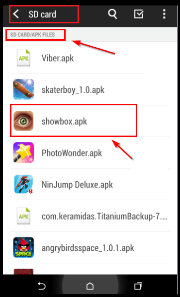how to Install Showbox app on your Android device
