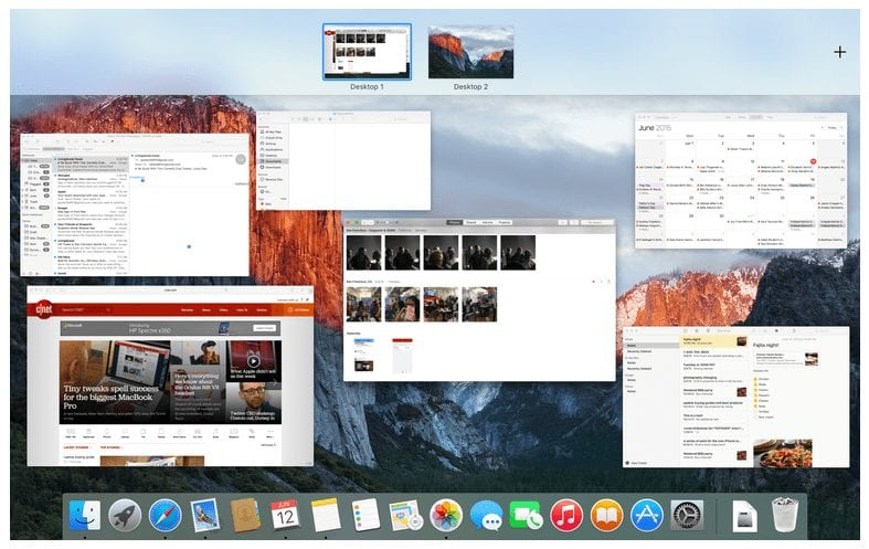 Apple OS X EI Capitan- Mission Control Feature