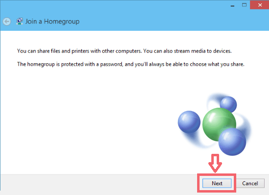 Create new HomeGroup on Windows 10