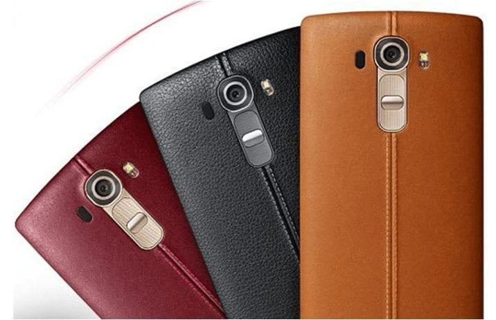 LG G4 - Stunning Look with Genuine Handmade Leather
