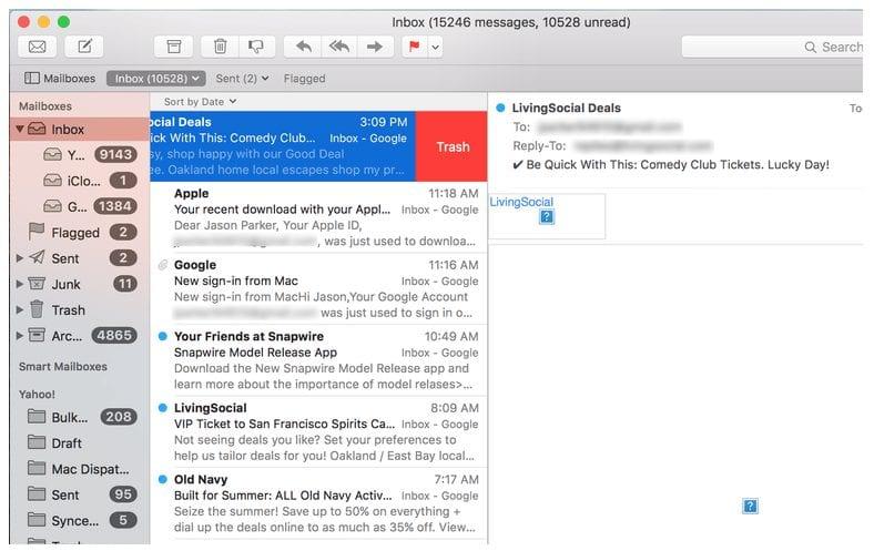 OS X EI Capitan - Mail