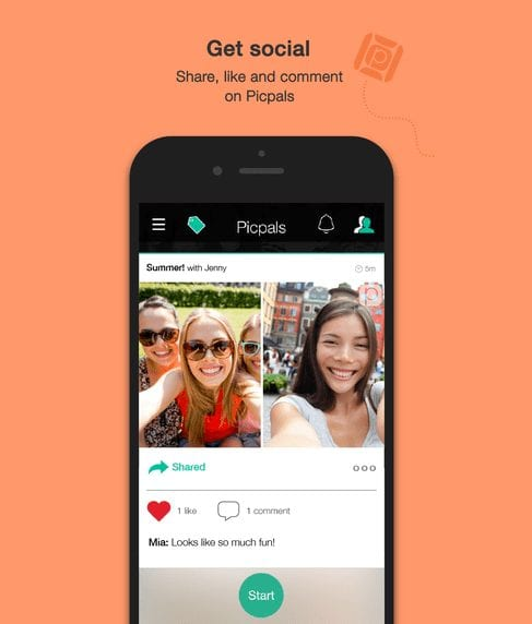 Picpal app - Share Joint Selfies on Social media