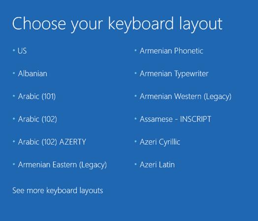 Windows 10 - Choose Keyboard Layout
