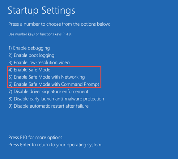 Windows 10 - Enable Safe Mode