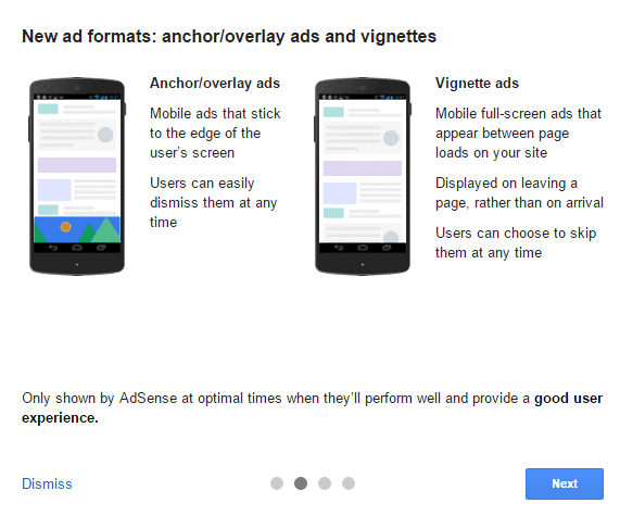 examples of google page level ads