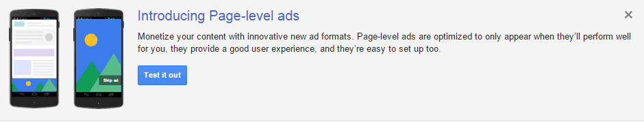 getting started with google page level ads
