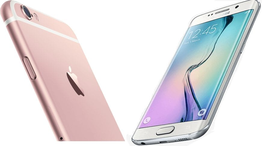 iPhone 6s vs galaxy s6 edge - design