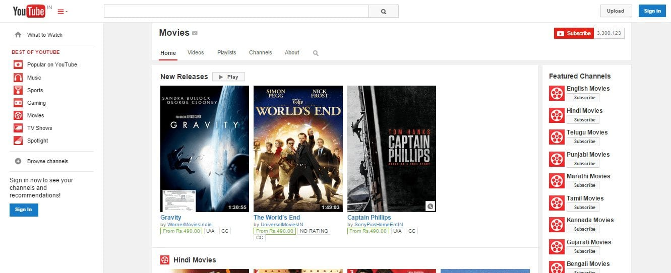 Youtube Best HD Movies Online