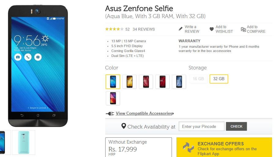 Asus Zenfone Selfie 32 GB