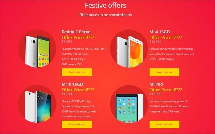 Xiaomi Diwali with Mi - Festive Offers