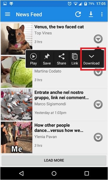 Download Facebook videos on your mobile