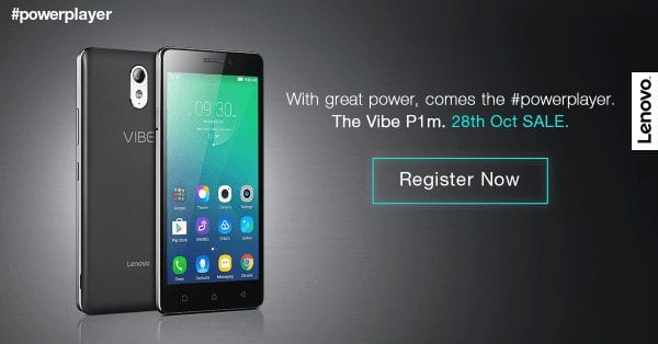 Lenovo Vibe P1m - Registrations