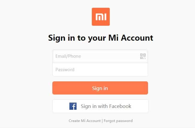 Mi Account - Sign in for Diwali With Mi Flash sale