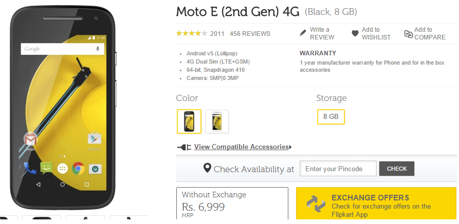 Moto E - 2nd Gen