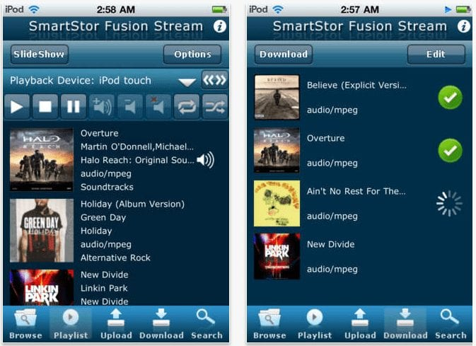 SmartStor Fusion Stream - DLNA app for iPhone
