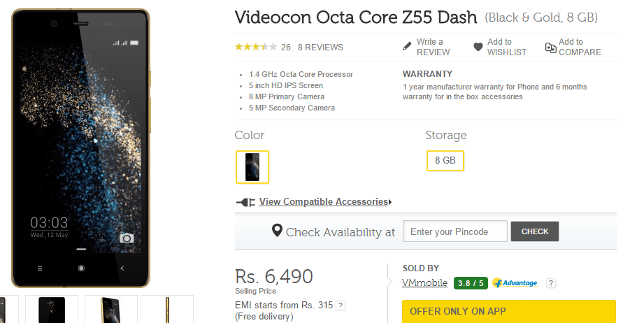 Videocon Octa Core