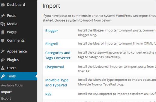 install-blogger-importer