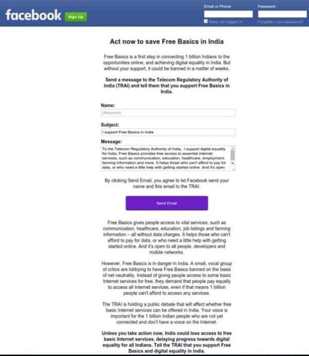 facebook free basics campaign