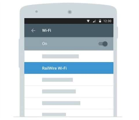 device's Wi-Fi settings