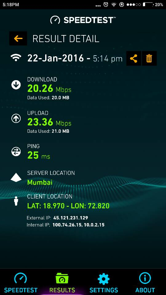 speed of the internet Wifi in Mumabi railway station