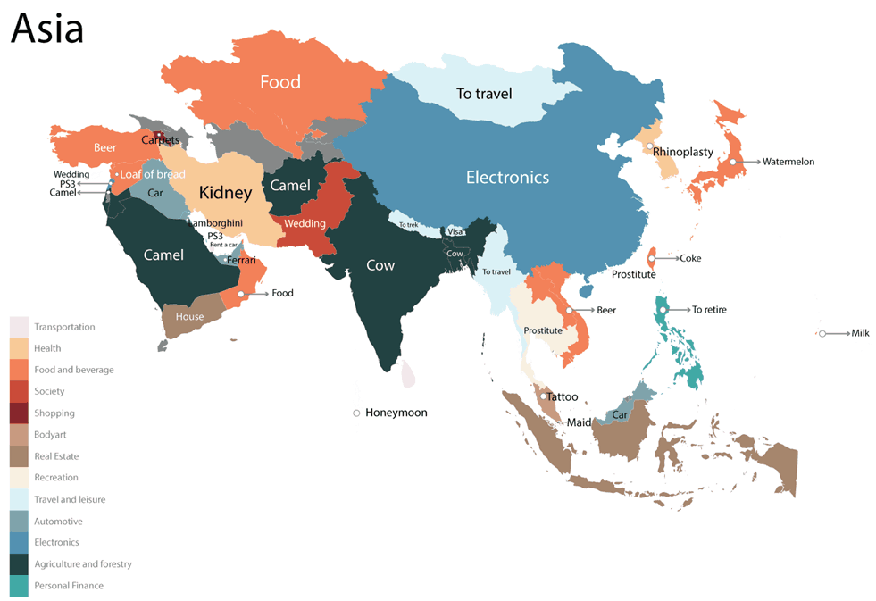Asia - India - Most Googled Product