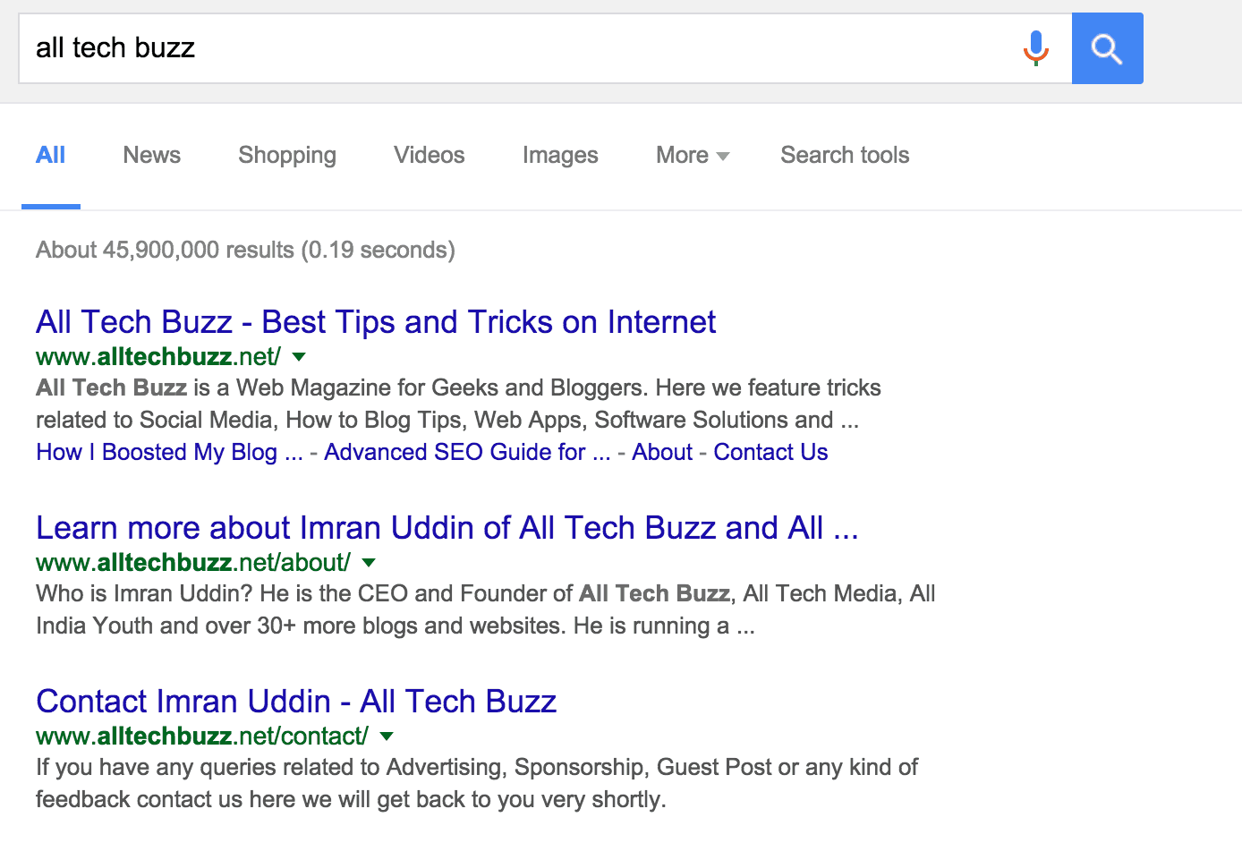 Clear visibility of homepage in search results