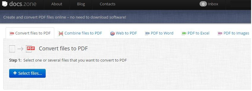 Convert Files to PDF using docs.zone