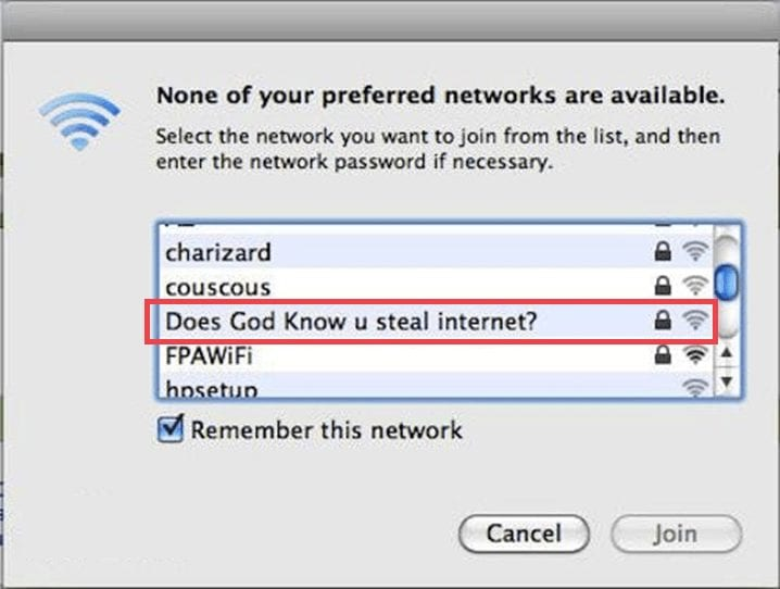 Crazy Wi-Fi names