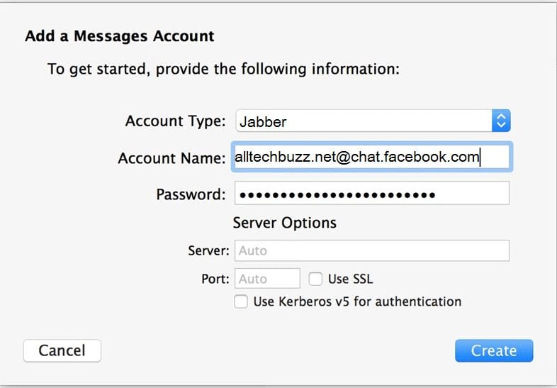 Create Messages Account