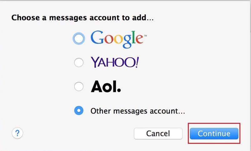 Facebook Messenger app on Mac OS