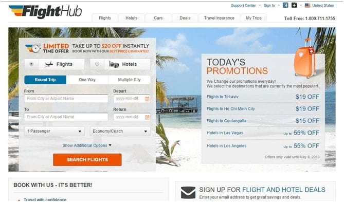 FlightHub Online Travel Agency - Review