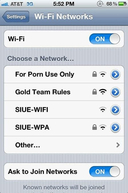 Funny and unique Wi-Fi names