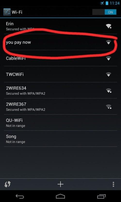 Hilarious Wi-FI Names