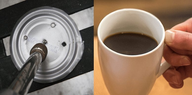 Holes on top of Coffee lid