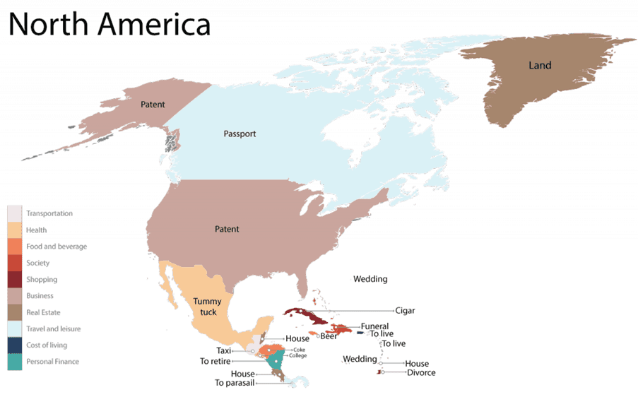 North America - Most Googles Products