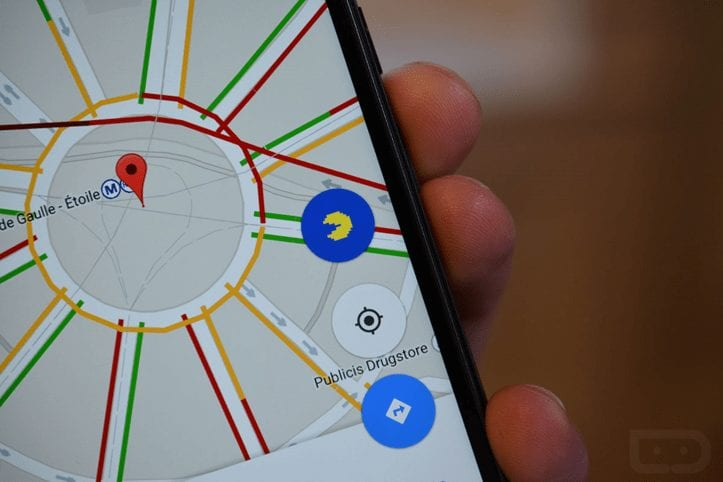 Pac-Man in Google maps from Mobile