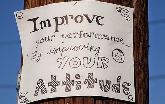 improve your performance by improving your attitude
