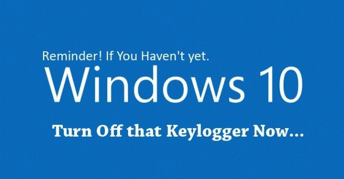 turn off the keylogger now