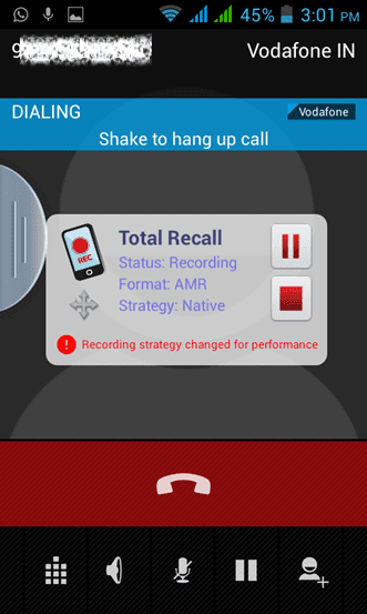 Call Recording by Total Recall Android app