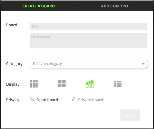 Create a Board - Tagmmer