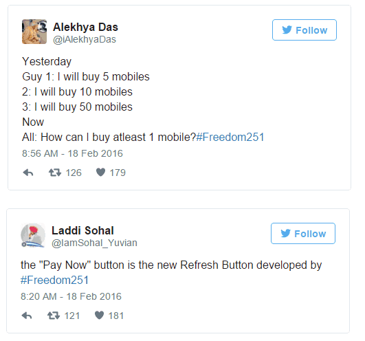 Freedom 251 Gets Trolled on Twitter