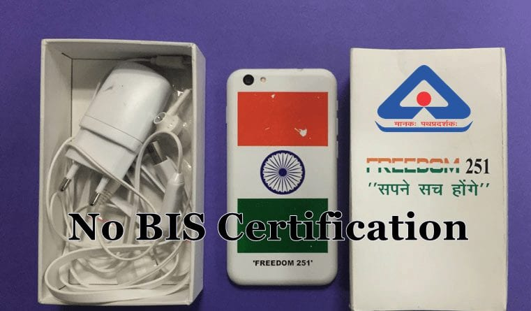 Freedom 251 - No BIS Certifications