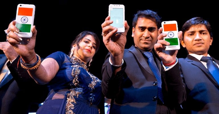 Freedom 251 Smartphone at Launch Event