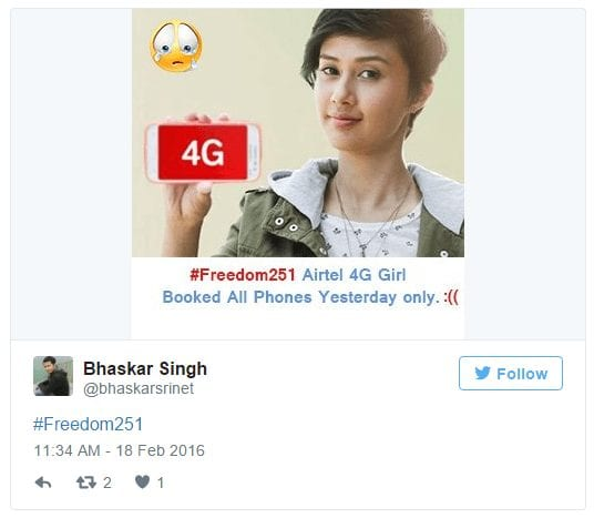 Funny Tweets on Freedom 251