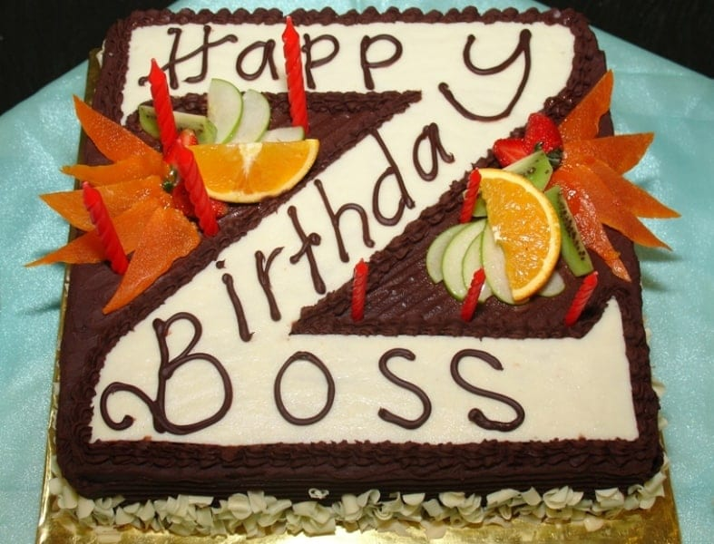 Happy Birthday whatsapp dp For Boss with cake
