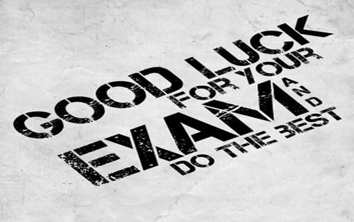 good luck for your exam whatsapp dp